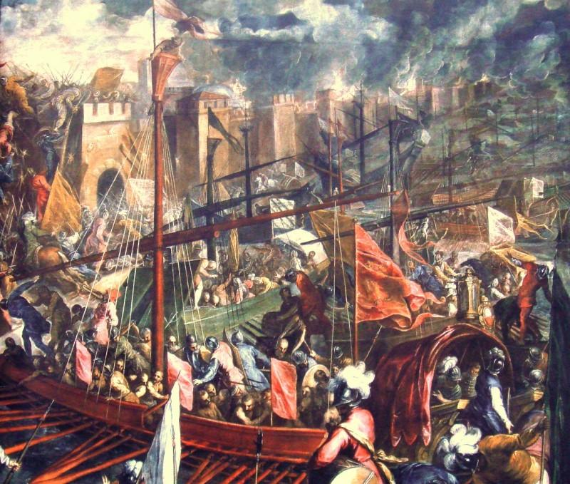 13 aprilie 1204 - Constantinopol a capitulat în a Patra Cruciadă. Tablou de Palma Le Jeune (Sursa foto: ro.wikipedia.org)