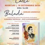 BALADA de Adrian Lesenciuc se lansează pe notele scrise de Ciprian Porumbescu, la Brașov
