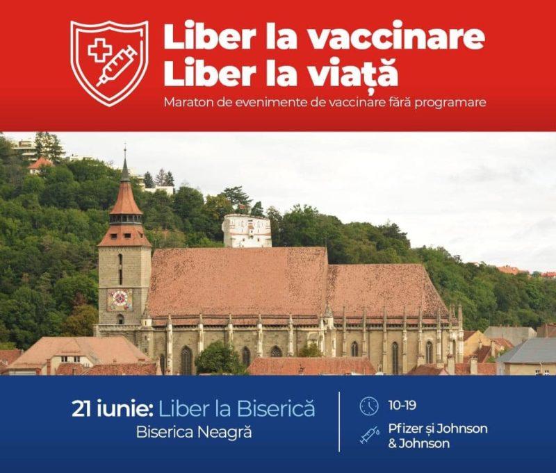 maraton vaccinare Brasov Biserica Neagra